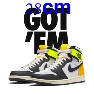 NIKE - NIKE AIR JORDAN 1 HIGH OG VOLT GOLD 28cm