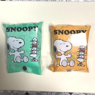 SNOOPY - スヌーピーエコバッグ2ケ グリーンとオレンジ
