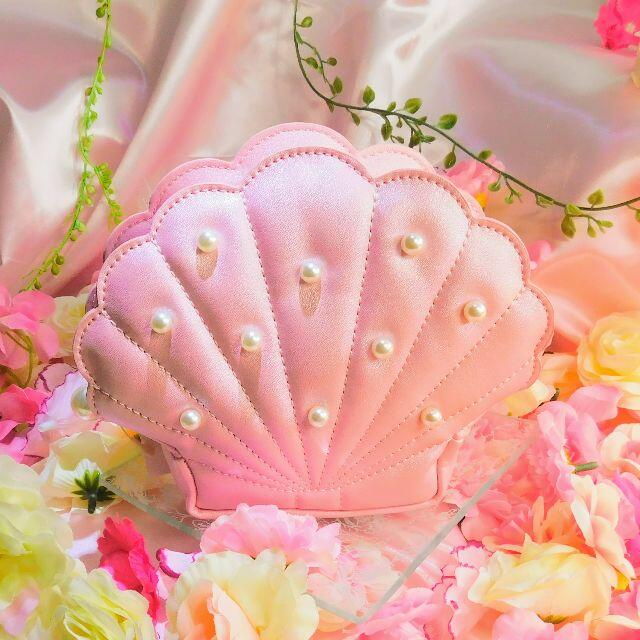 Maison de FLEUR(メゾンドフルール)のメゾンドフルールシェルポーチピンクプレゼント付き! レディースのファッション小物(ポーチ)の商品写真