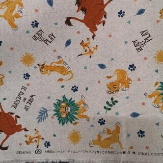 ライオンキング 生地 リネン 生成り カス残し 綿麻キャンバス 110×50