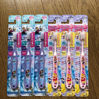 ディズニー(Disney)のディズニープリンセス アナ雪 子供歯ブラシ(歯ブラシ/歯みがき用品)