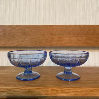 トウヨウササキガラス(東洋佐々木ガラス)の昭和レトロガラス 2点セット(食器)
