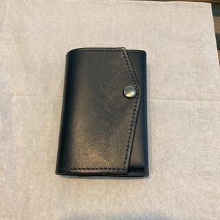 アブラサス ブッテーロレザー 財布 ネイビー(折り財布)