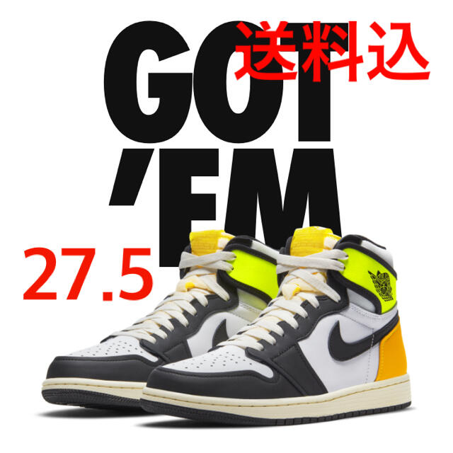 "NIKE(ナイキ)のNIKE AIR JORDAN 1 HIGH OG ""VOLT GOLD""  メンズの靴/シューズ(スニーカー)の商品写真"