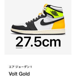 ナイキ(NIKE)のエア ジョーダン1  Volt Gold(スニーカー)