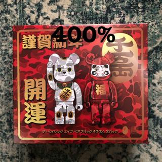 メディコムトイ(MEDICOM TOY)の400%セット BE@RBRICK DARUMA BAPE 招き猫 達磨(その他)