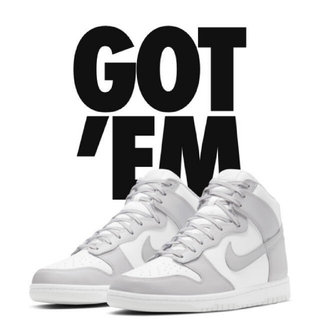 ナイキ(NIKE)のNIKE Dunk High Vast Grey  27.5cm(スニーカー)