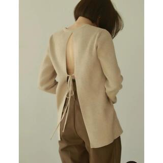 TODAYFUL - 完売品!louren*backopen design knit*beige