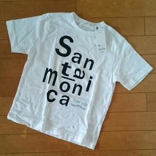 ジーユー(GU)の新品未使用GUグラフィックTシャツ半幅130(Tシャツ/カットソー)