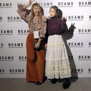 レイビームス(Ray BEAMS)のプリーツティアードスカート rbs raybeams(ロングスカート)