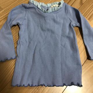 ブランシェス(Branshes)のブランシェス 長袖シャツ リブ カットソー 90(Tシャツ/カットソー)