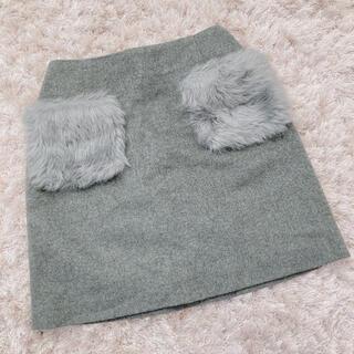 エブリン(evelyn)の今週限定 gray skirt(ミニスカート)