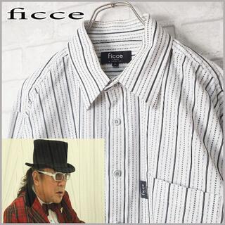 フィッチェ(FICCE)の人気!! ficce フィッチェ モノトーン ストライプ ホワイトシャツ(シャツ)