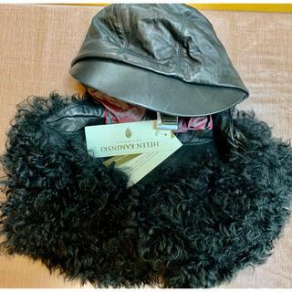 ヘレンカミンスキー(HELEN KAMINSKI)のお値下け✩.*˚未使用タグ付ヘレンカミンスキーファー付き皮の帽子(その他)