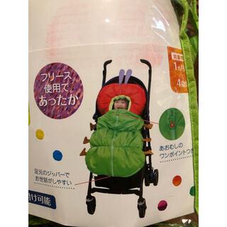 超美品❗️ 日本育児 フットマフ はらぺこあおむしベビーカー用フットマフ(ベビーカー用アクセサリー)