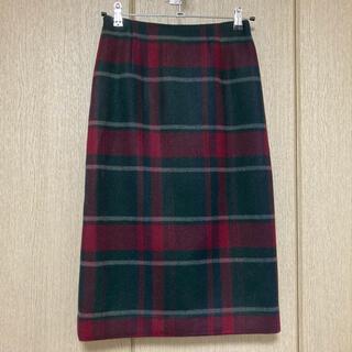 テチチ(Techichi)のTe chichi TERRASSE メルトンチェックタイトスカート(ひざ丈スカート)