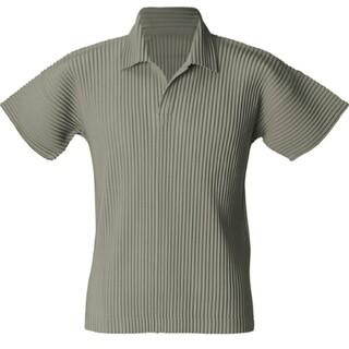 ISSEY MIYAKE - ISSEY MIYAKE HOMME PLISSE ポロシャツ
