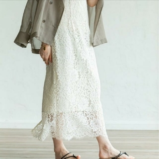 ノーブル(Noble)の美品 Noble ノーブル リバーレース スカート(ロングスカート)