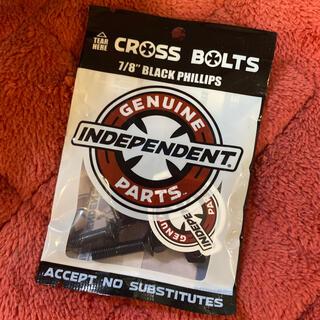 インディペンデント(INDEPENDENT)のINDEPENDENT インディ ビス スケボー小物 ビス 黒 新品(スケートボード)