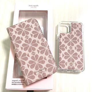 ケイトスペードニューヨーク(kate spade new york)のiPhone12/12pro ケイトスペード フラワー マグネティック フィリオ(iPhoneケース)