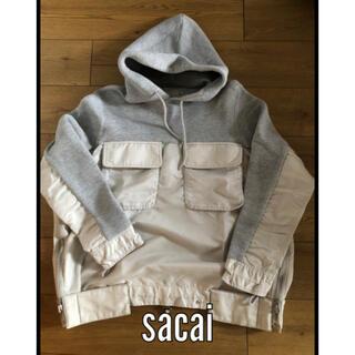 サカイ(sacai)のsacai 18aw sponge sweat スポンジ スウェット サカイ (パーカー)