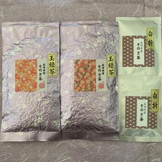 そのぎ茶 玉緑茶 日本茶 100g×2袋 おまけ白折10g×2袋 カテキン(茶)