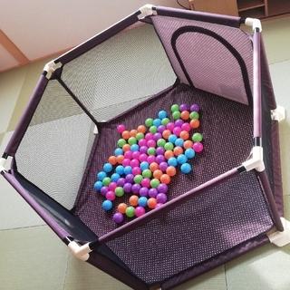 アカチャンホンポ(アカチャンホンポ)のベビーサークル カラフルボール付き(ベビーサークル)