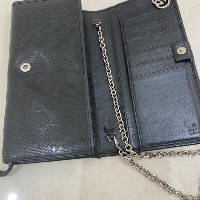 Gucci(グッチ)のGUCCI チェーン付き財布 レディースのファッション小物(財布)の商品写真