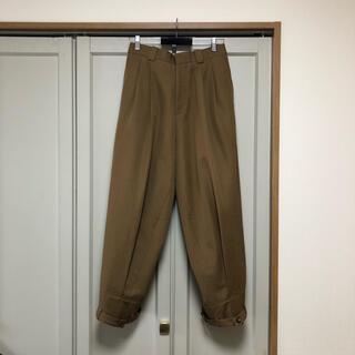 Marni - MARNI 16aw ウールギャバ 裾ベルト ワイドパンツ
