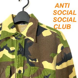 OFF-WHITE - ANTI SOCIAL SOCIAL CLUB カモフラ ネルシャツ メンズ