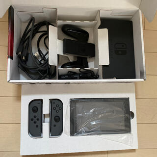 Nintendo Switch - Nintendo Switch JOY-CON グレー 本体  ホリパッド
