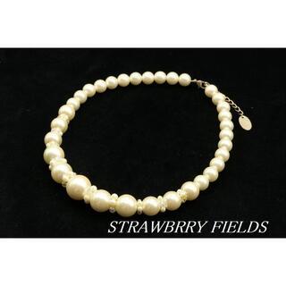 ストロベリーフィールズ(STRAWBERRY-FIELDS)の【WA46】STRAWBRRY FIELDS パール ビーズ ネックレス(ネックレス)