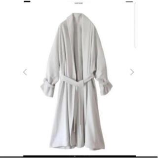 Ameri VINTAGE - shawl colour coat ガウンコート ホワイト ロング