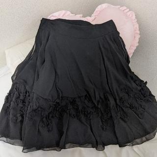 フォクシー(FOXEY)のフォクシー FOXEY  スカート 42 ブラック(ひざ丈スカート)