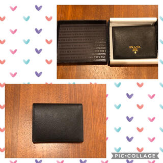プラダ(PRADA)のPRADA(プラダ) サフィアーノレザー 折りたたみ財布(財布)