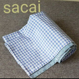 サカイ(sacai)のsacai サカイ ギンガムチェック ドット柄シルク混合ストール(ストール)