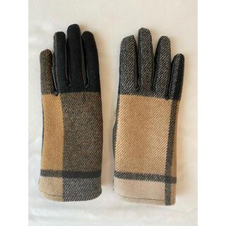 ザラ(ZARA)のZARAチェック柄レディース手袋(手袋)