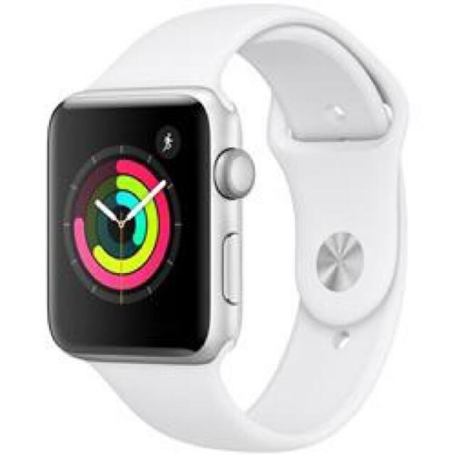 Apple Watch(アップルウォッチ)のApple Watch Series3★42mmシルバー+ホワイトスポーツバンド メンズの時計(腕時計(デジタル))の商品写真