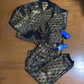 adidas 総柄セットアッププレミアム SST トラックジャケット パンツ L