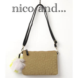 ニコアンド(niko and...)のnico and... ショルダーバッグ  ベージュ(ショルダーバッグ)