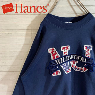 Hanes - 【Hanes】ヘインズ 人気デザイン カレッジ 刺繍ロゴ スウェット