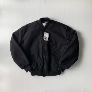 ビームス(BEAMS)のUSA製 スタジャン ウールジャケット ブラック タグ付き(スタジャン)
