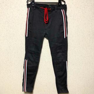 ザラ(ZARA)のZARA ザラ メンズ サイドライン スキニーパンツ 黒ズボン 40(デニム/ジーンズ)