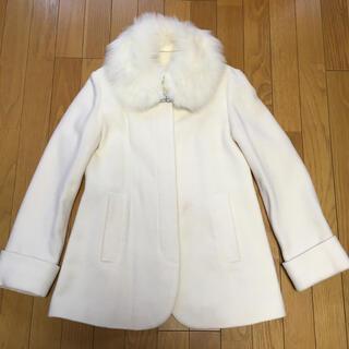 ミッシュマッシュ(MISCH MASCH)の半額以下❣️ミッシュマッシュ エーライン ホワイト コート(毛皮/ファーコート)