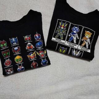 シマムラ(しまむら)のしまむら バンダイ 110 仮面ライダー ロンT 長袖 黒 セット(Tシャツ/カットソー)