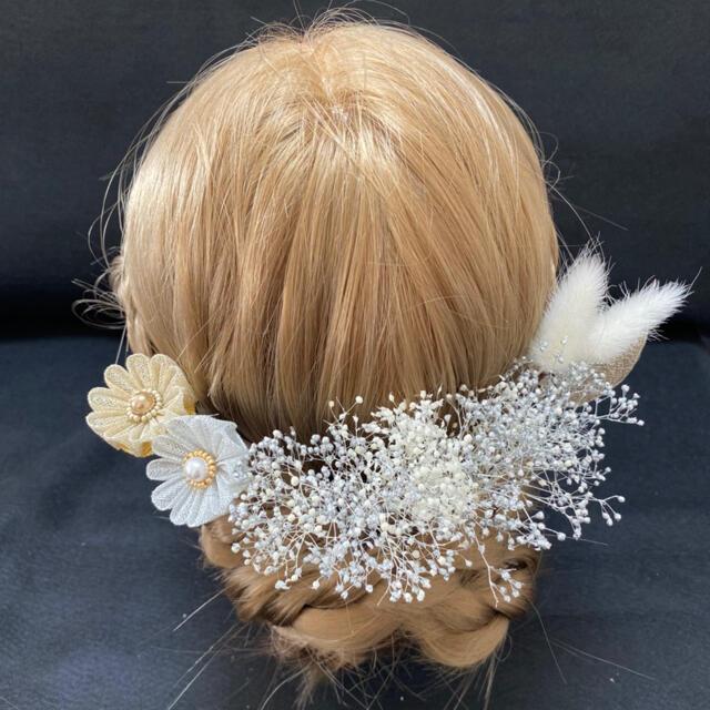 髪飾り 成人式 卒業式 袴 つまみ 11本セット かすみ草 ゴールド シルバー レディースのヘアアクセサリー(ヘアピン)の商品写真
