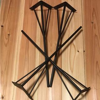 アイアンレッグ テーブル脚 角度付 太さ22ミリ 全長700ミリ  (ダイニングテーブル)