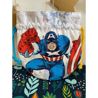 マーベル(MARVEL)のキャプテンアメリカ☆まんまる巾着袋(ポーチ)