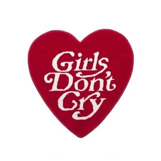 新品未使用 Girls Don't Cry ラグ 赤