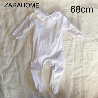ザラホーム(ZARA HOME)のザラホーム ZARAHOME ベビー フリルネック ロンパース(ロンパース)